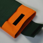 Orange-Dark Green sleeve